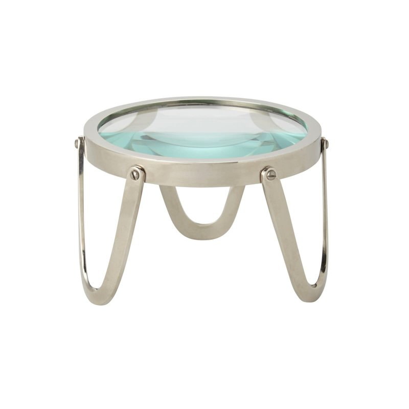"Bungalow 5 Edwin Magnifying Glass - Nickel - 5.5""W x 4""H"