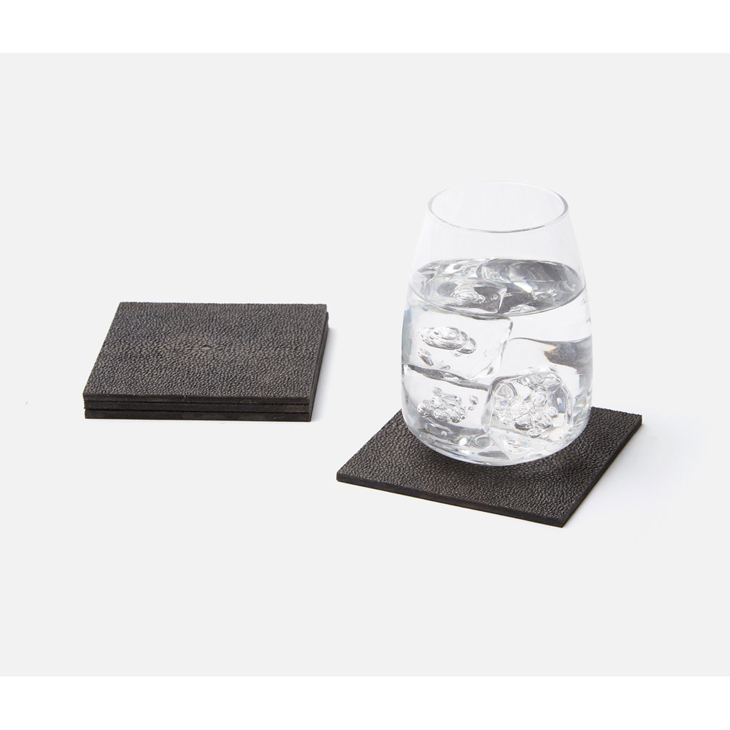 MH Henry - Faux Shagreen Coasters -  Multiple Colors