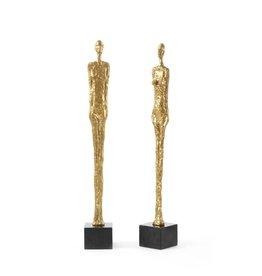 "Dora Mar Statue (Pair) - Gold - 24"" H"