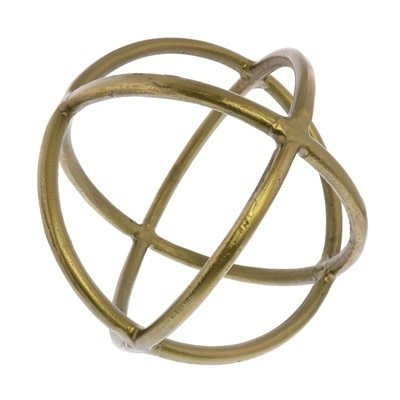 Object - Triple Ring Sphere - Brass