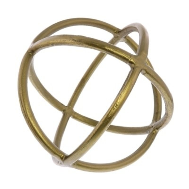 HOMART Object - Triple Ring Sphere - Brass