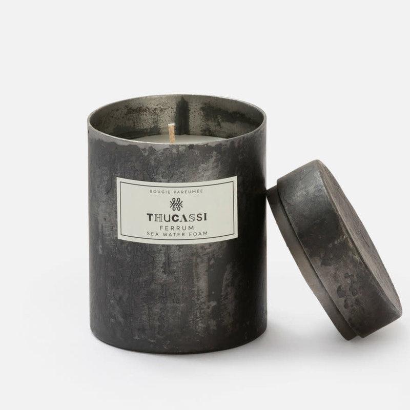 Thucassi Candle - Ferrum -  Seawater Foam - Black - 9 oz.
