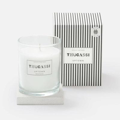 Candle - Uptown - Shagreen Base -  Bespoke - Blanc - 8 oz.