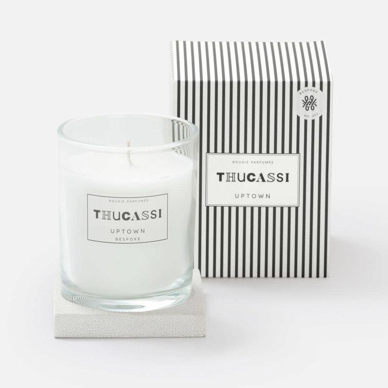 Thucassi Candle - Uptown - Shagreen Base -  Bespoke - Blanc - 8 oz.