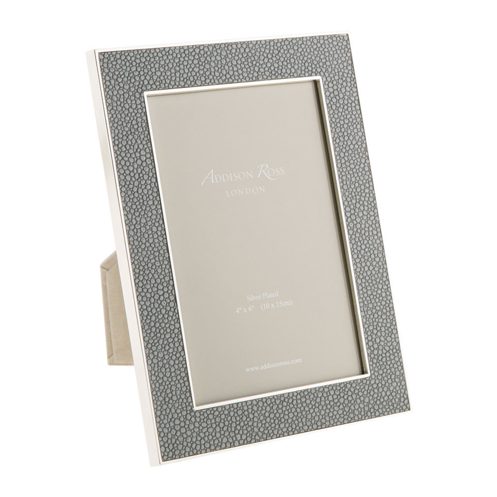 Addison Ross LTD Frame - Faux Shagreen - Grey