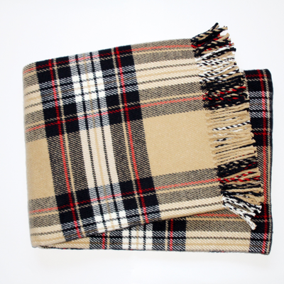 Throw - Classic Tartan Plaid - Multiple Colors