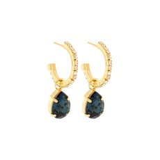 Earrings - Kate Hoop Pendant -