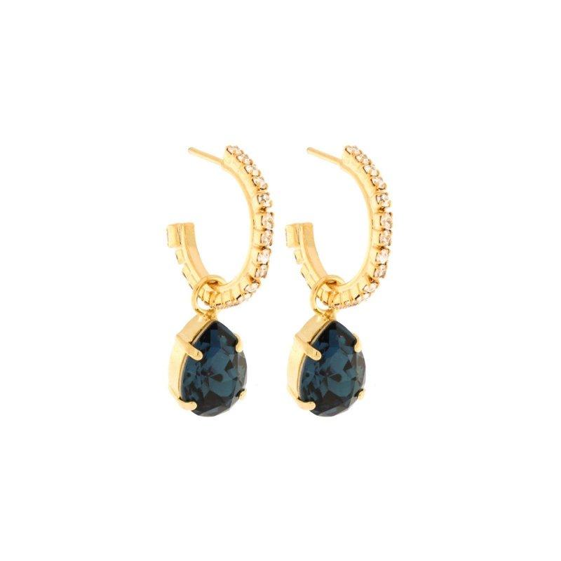Caprice Decadent Earrings - Kate Hoop Pendant -