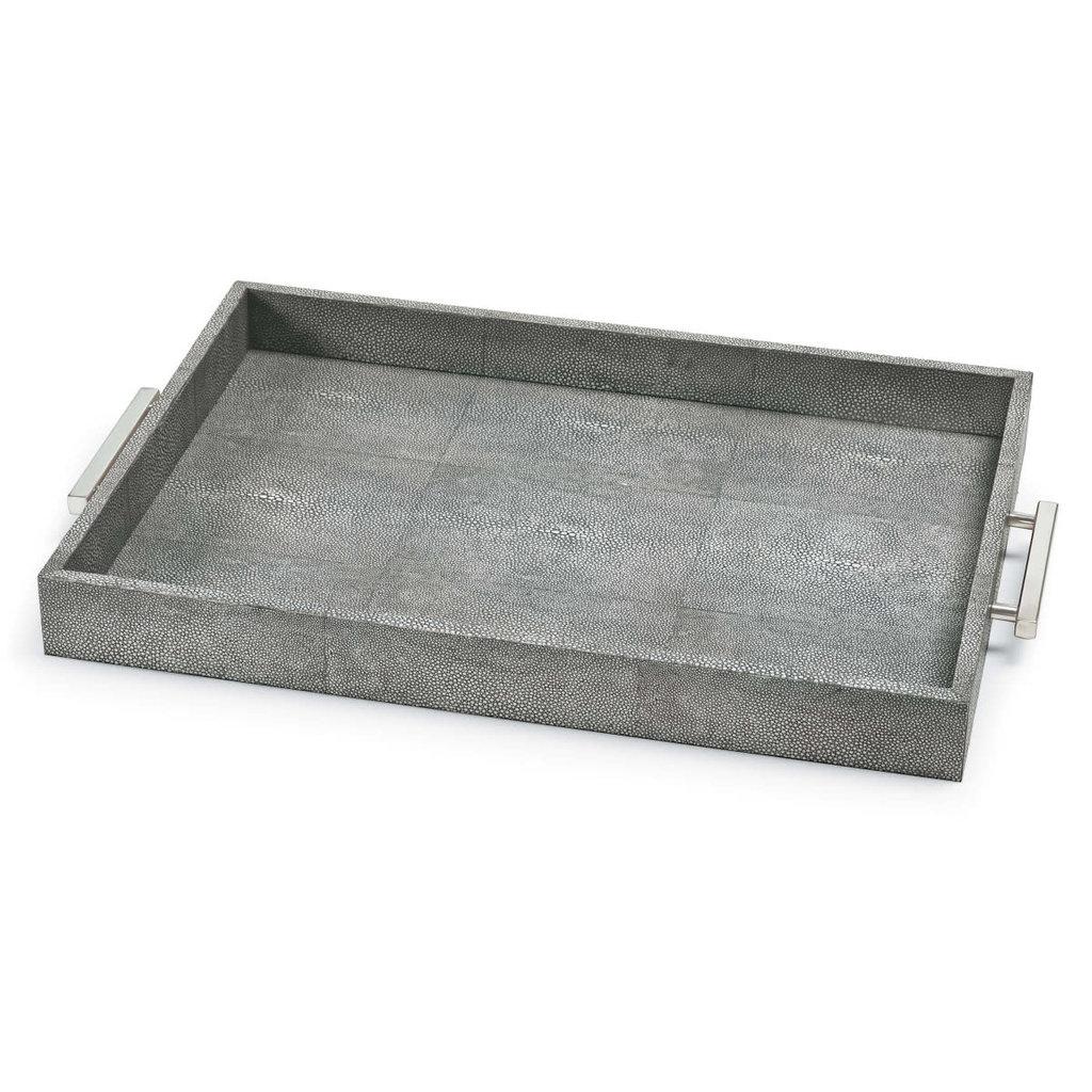 Tray - Shagreen Rectangle - 14x22.5x2 -