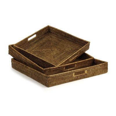 Burma Rattan - Square Table Trays -