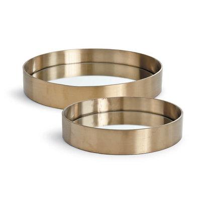 Tray - Round - Natural Brass