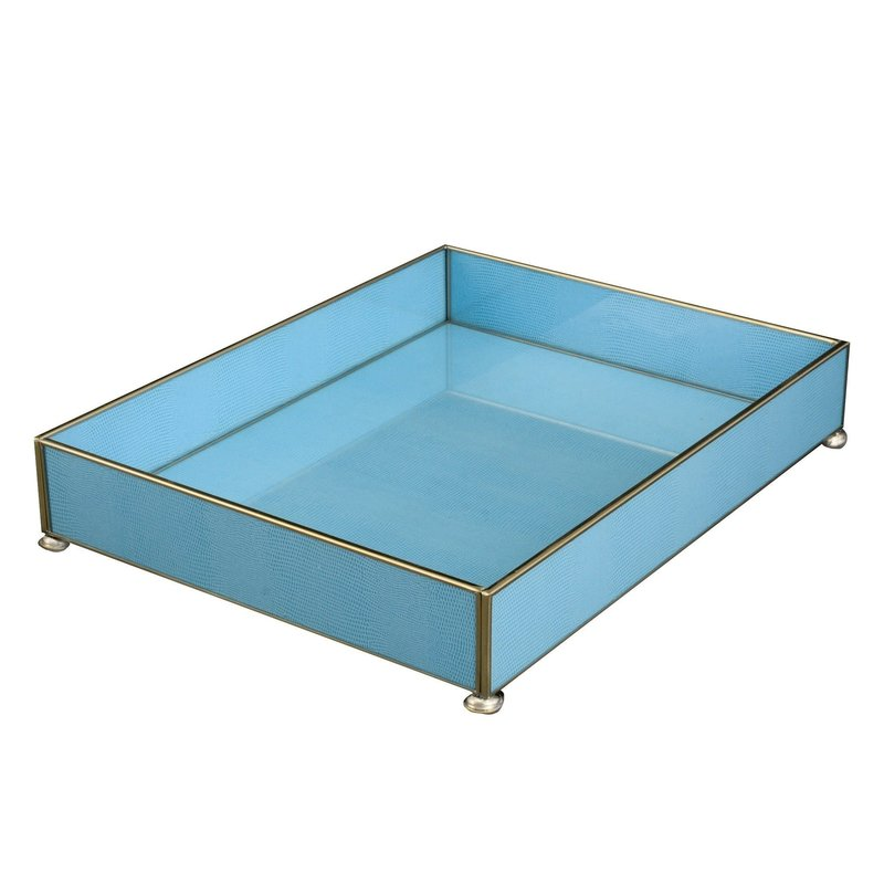 JM Piers Fine Furniture Vanity Tray -  Blue Lizard