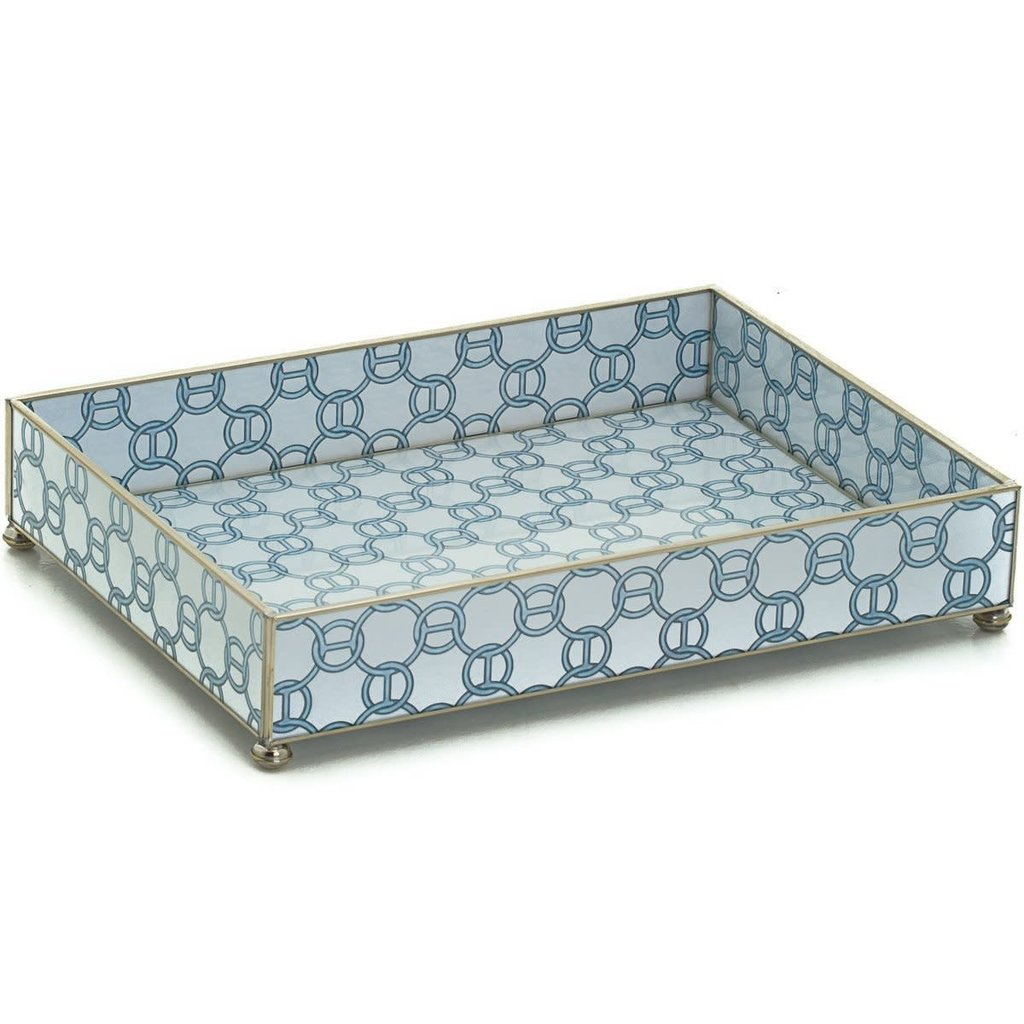 Vanity Tray -  Blue Chain