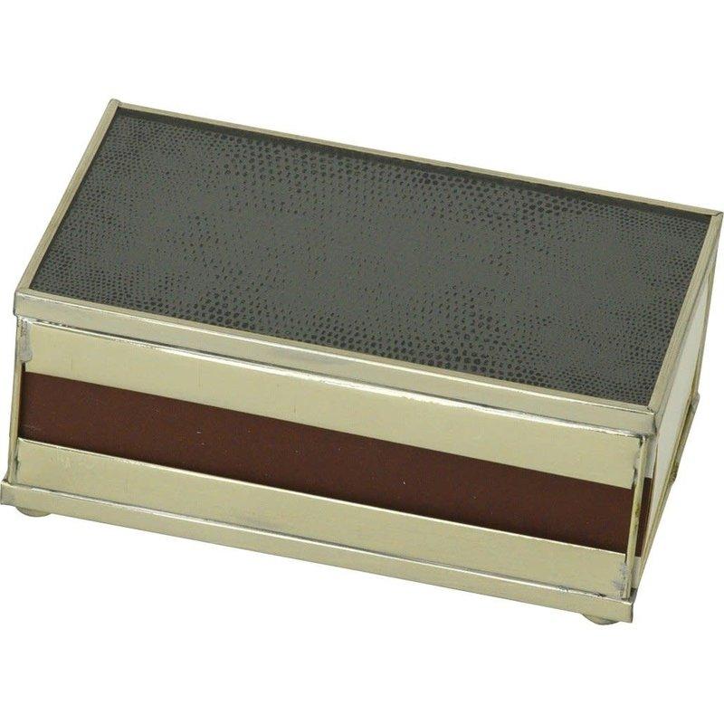 JM Piers Fine Furniture Matchbox Cover -  Black Lizard