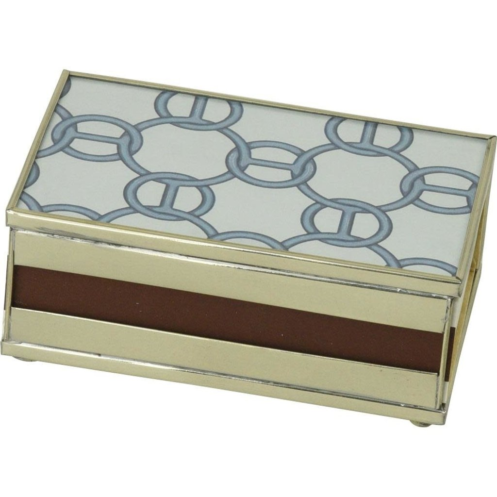 MH Matchbox Cover -  Blue Chain