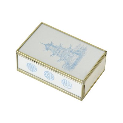 Matchbox Cover -  Blue Pagoda