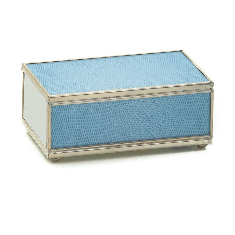JM Piers Fine Furniture Matchbox Cover -  Blue Skin