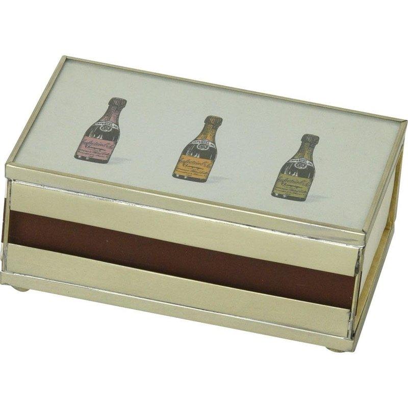 Matchbox Cover -  Three Champagne