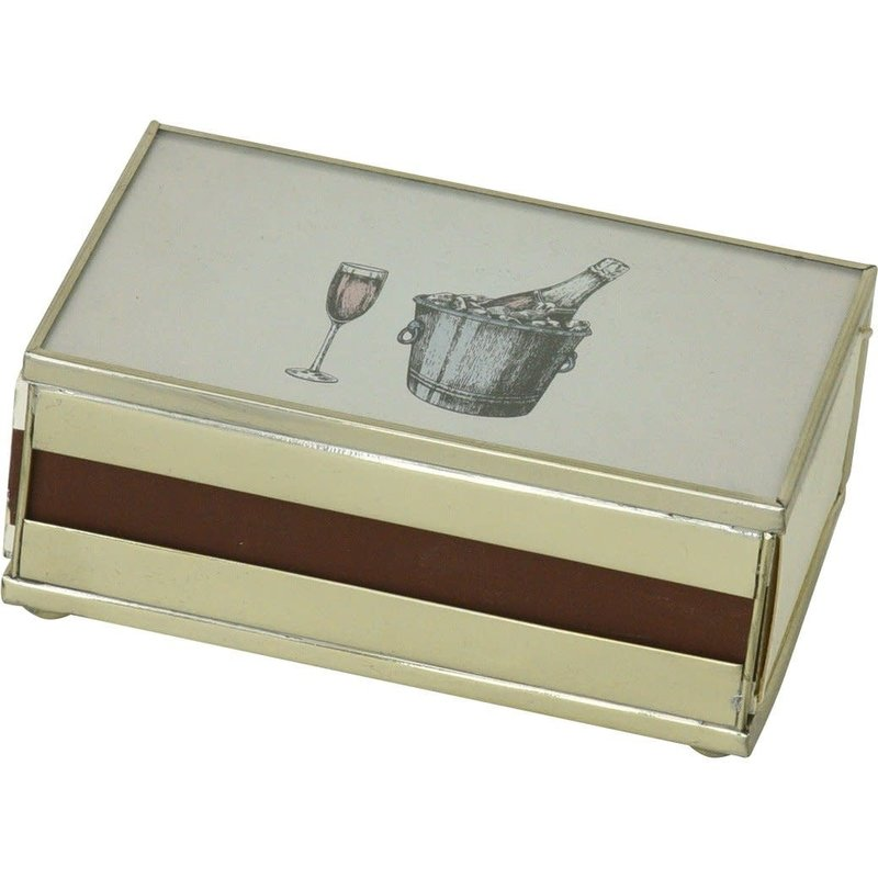 JM Piers Fine Furniture Matchbox Cover -  Rose Champagne