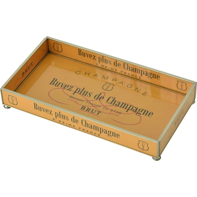 JM Piers Fine Furniture Tray - 6x12 -  Orange Brut