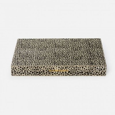 Backgammon - Bailey - Hair-on-Hide -  Cheetah Print  - Large