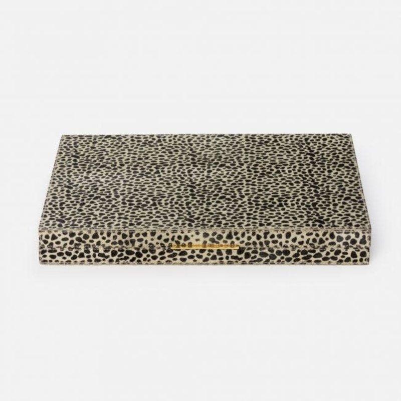 MH Backgammon - Bailey - Hair-on-Hide -  Cheetah Print  - Large