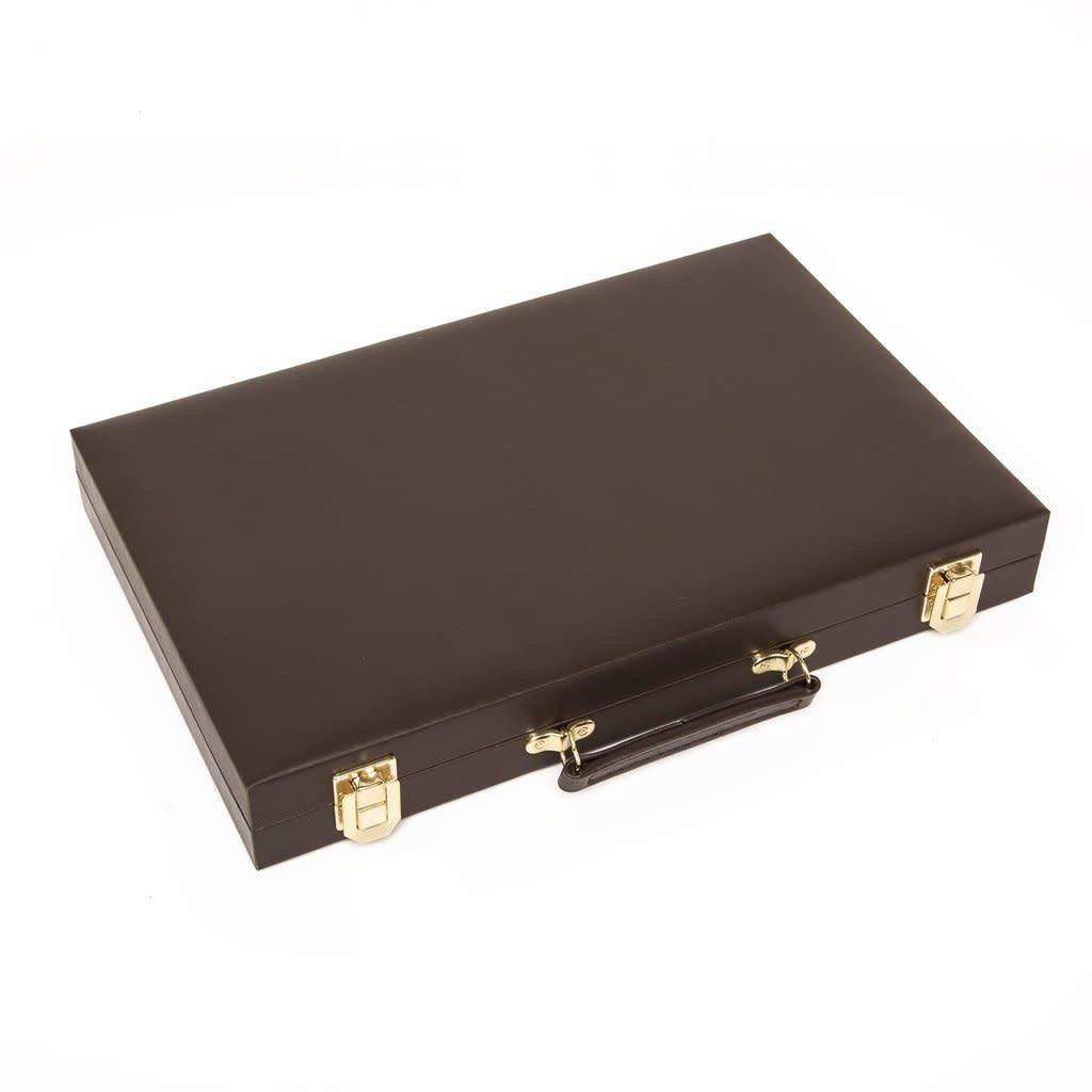 Brouk & Co Backgammon - Chocolate Brown Vegan Leather