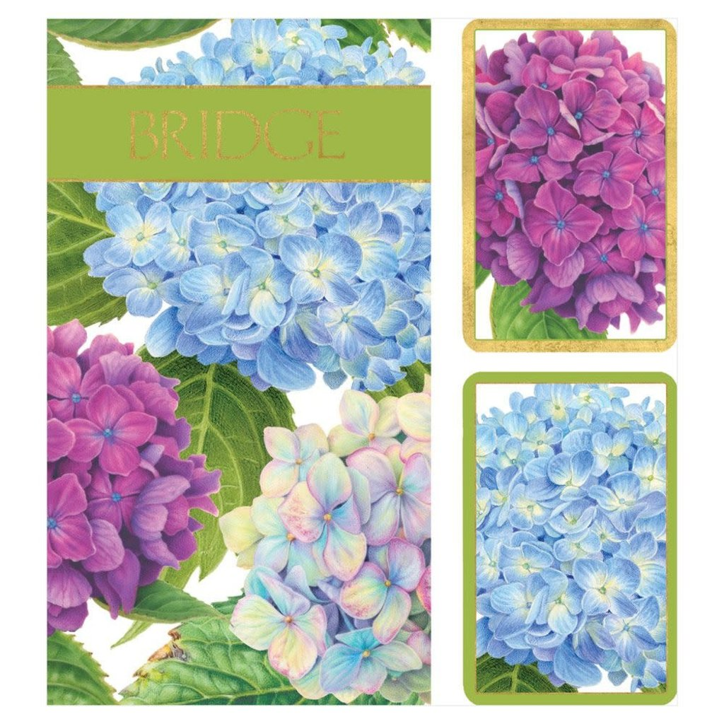 Bridge Set - 2 Decks & 2 Score Pads -  Hydrangea Garden