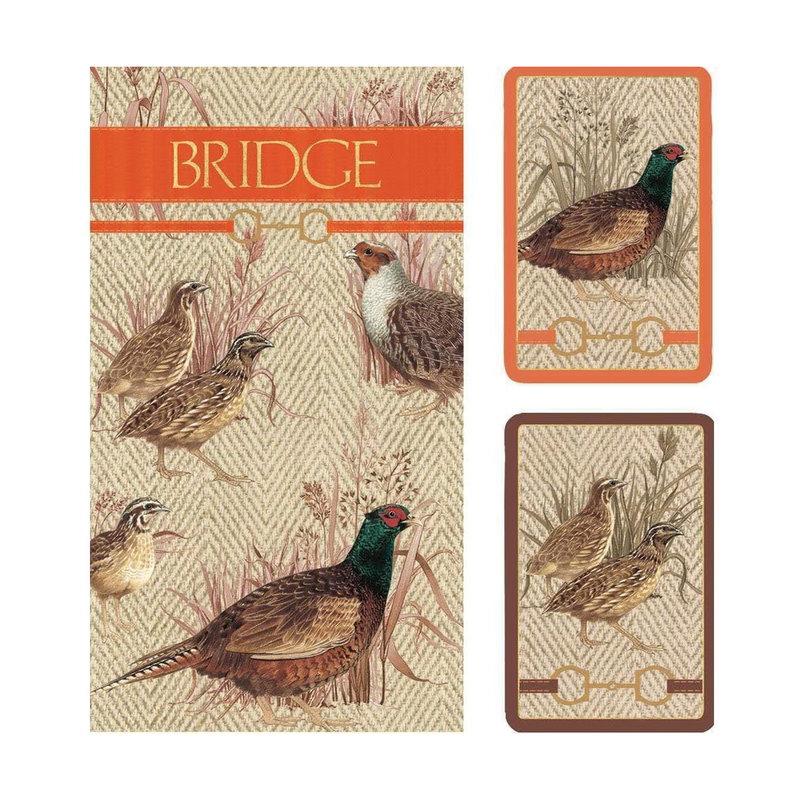 Caspari Bridge Set - 2 Decks & 2 Score Pads -  Albemarle Hall