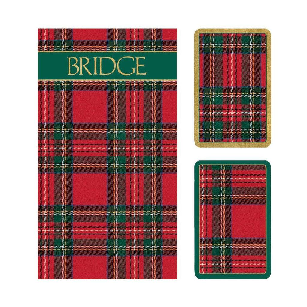 MH Bridge Set - 2 Decks & 2 Score Pads -  Plaid