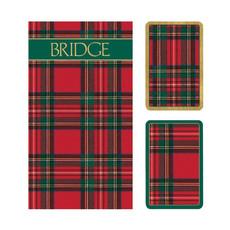 Bridge Set - 2 Decks & 2 Score Pads -  Plaid