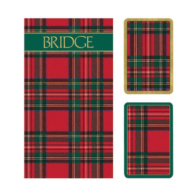 Bridge Set - 2 Decks & 2 Score Pads -  Plaid