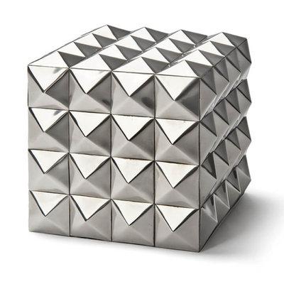 Box - Pantera Steel - Polished Nickel Finish - 4x4x4