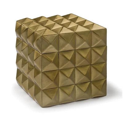 Box - Pantera Steel - Gold Finish - 4x4x4