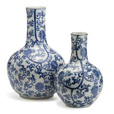 Vase - Blue & White Lotus - Large - 21H x 13W
