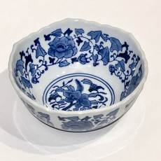 "Bowl - Scalloped Edge Bowl 8"" - Canton Blue & White Collection"