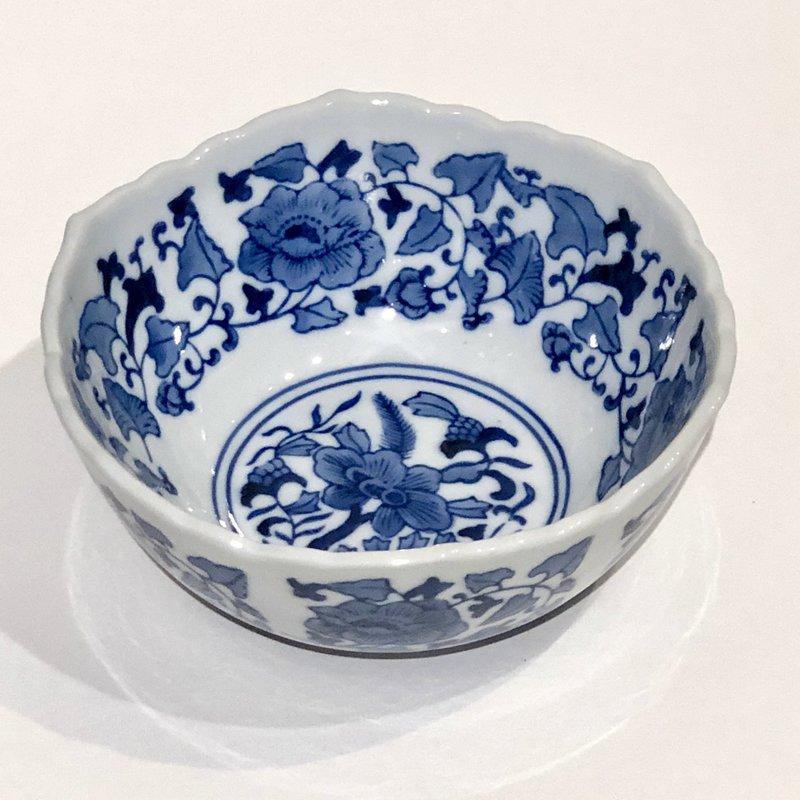 "Bowl - Scalloped Edge Bowl 8"" - Canton Blue & White Collection"