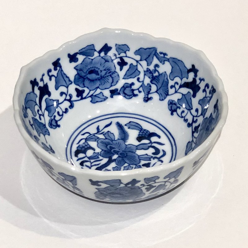 "MH Bowl - Scalloped Edge Bowl 8"" - Canton Blue & White Collection"