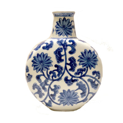 "Vase - Coin Vase - 10"" - Canton Blue & White Collection"