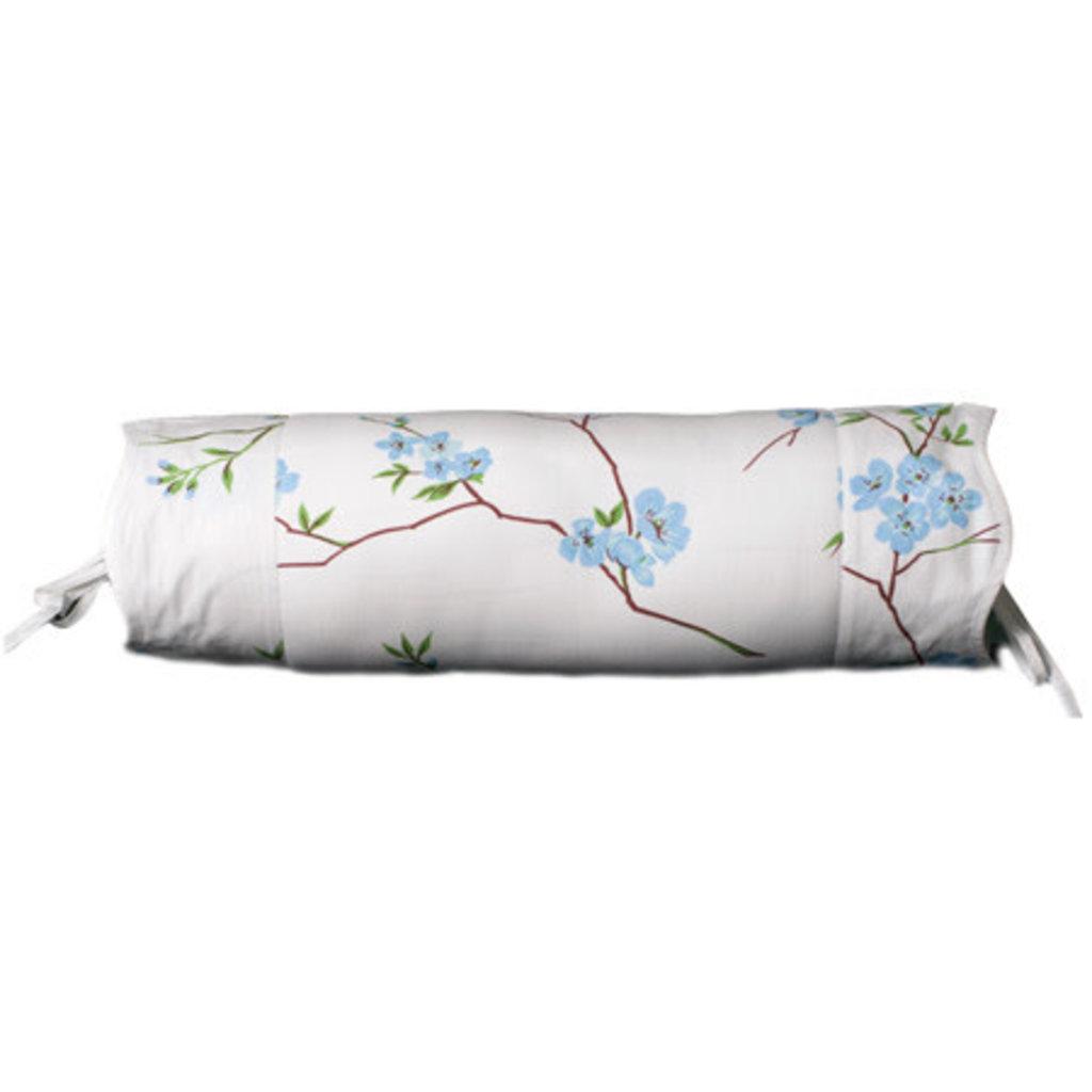D. Porthault Fleurs de Pecher - Blue - White Wavy - Bedding - Boudoir