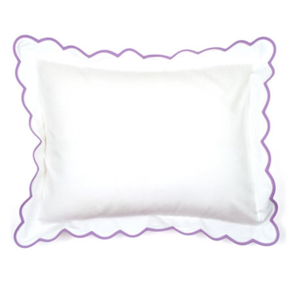 D. Porthault Solid White - Bedding - Percale - Scallop - Boudoir  - Multiple Colors