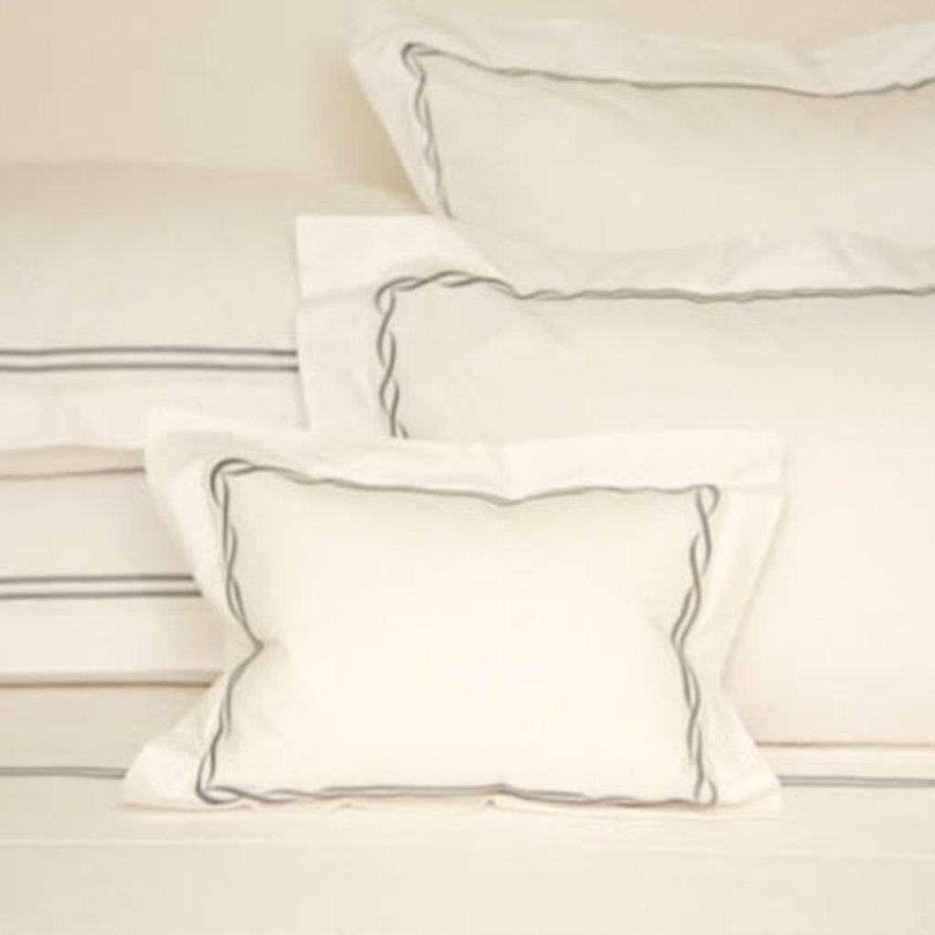 D. Porthault Tresse - Grey - Bedding - Boudoir