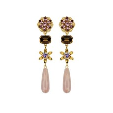 MH Earrings - Giselle - Rose Quartz