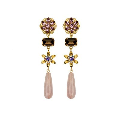 Earrings - Giselle - Rose Quartz
