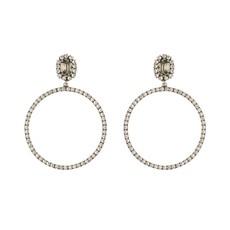 MH Earrings - Hoops -  5 - Clear Black Diamond