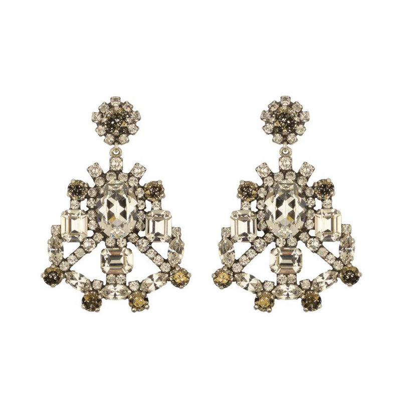 Caprice Decadent Earrings - Dolce - 1 - Clear/Bronze