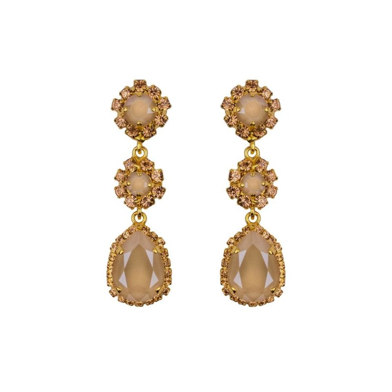 Caprice Decadent Earrings - Caprice Trinity - Neutral