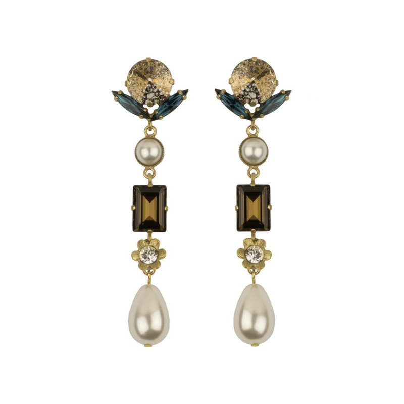 Caprice Decadent Earrings - Vedette 6 - Pearl