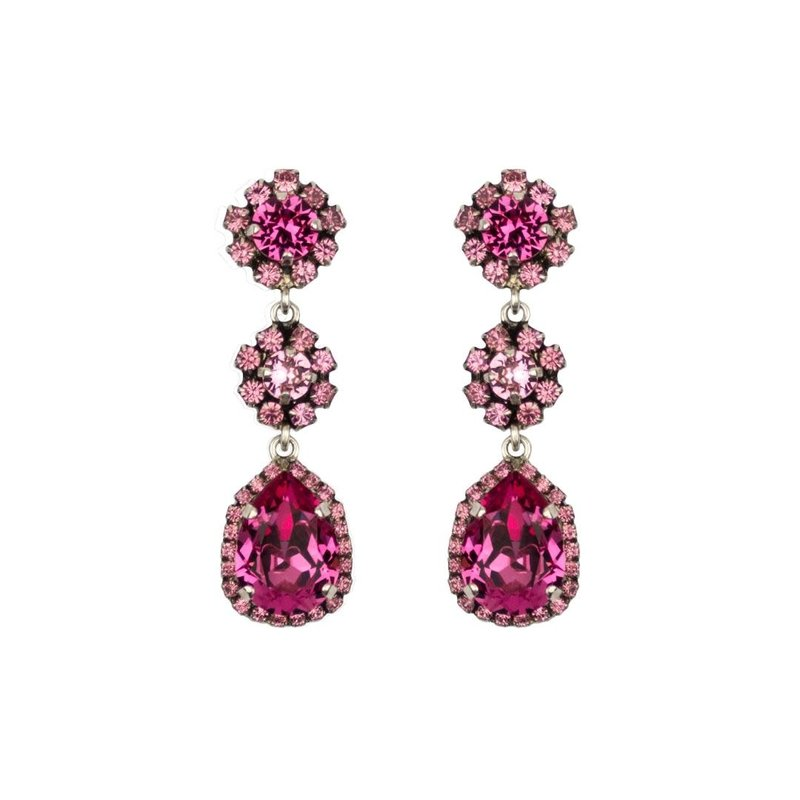 Caprice Decadent Earrings - Caprice Trinity -  8 - Indian Pink