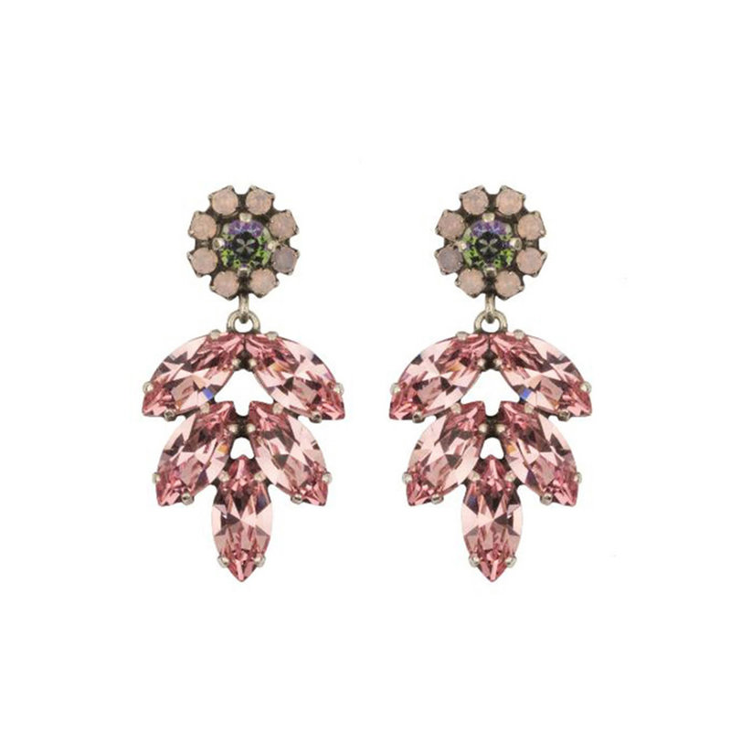 Caprice Decadent Earrings - Aphrodite -  9 - Pink/Green
